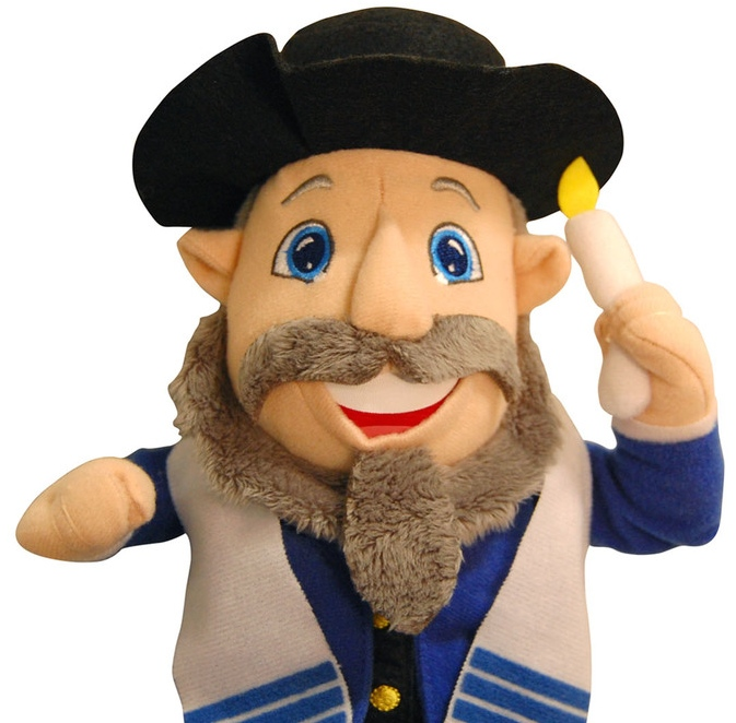 The Mensch on a Bench (pictured here), a popular plush Hanukkah toy, has now become Team Israel's mascot at the World Baseball Classic. Credit: Courtesy of Mensch on a Bench.
