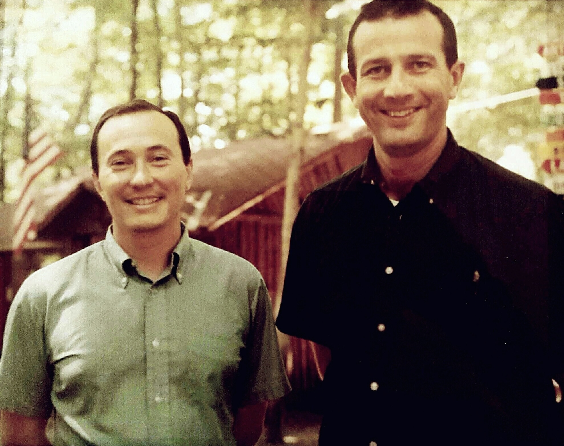 Neal Schechter (left) and Larry Stevens, co-founders of Camp Walden in Cheboygan, Mich., are pictured here at the camp during its inaugural season in 1960. Credit: Courtesy of Liz Stevens.
