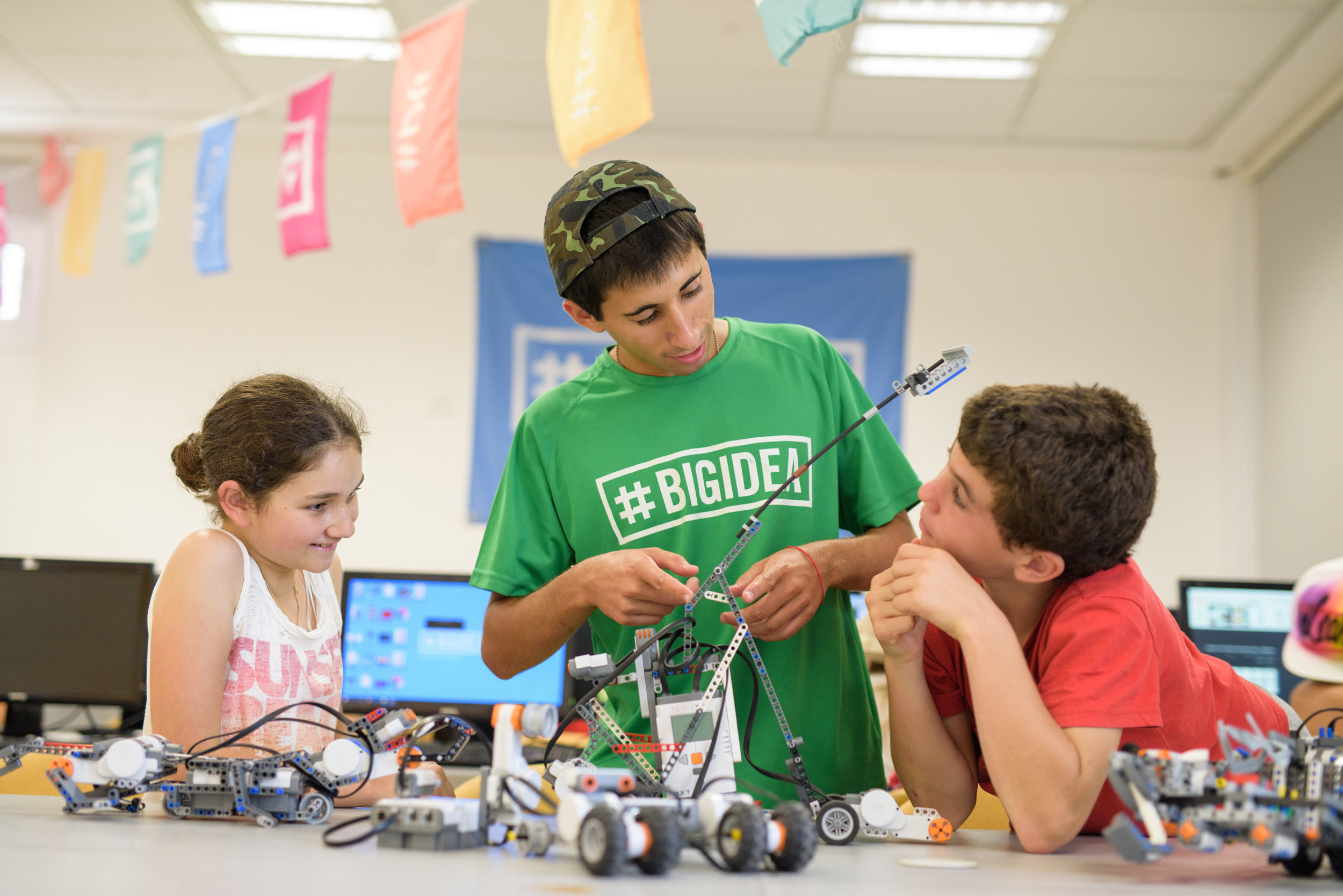A high-tech activity at a Big Idea camp in Israel. Credit: Big Idea.