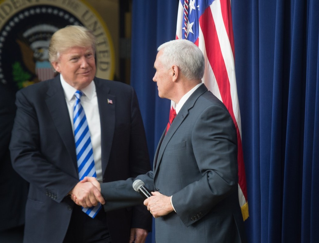 President Donald Trump with Vice President Mike Pence in April. Credit: Office of the Vice President.