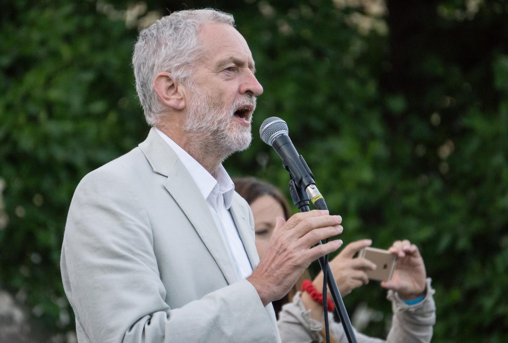 Jeremy Corbyn. Credit: Paul New via Wikimedia Commons.