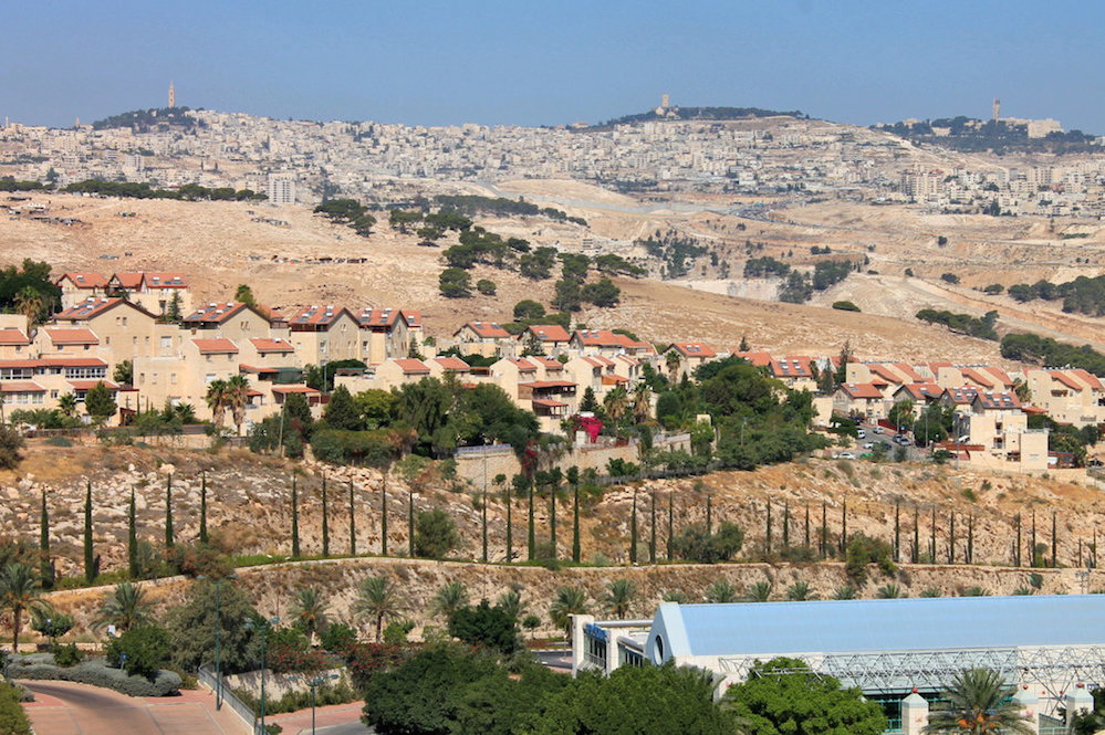 The Judea and Samaria city of Ma'ale Adumim, which is located seven kilometers (4.3 miles) east of Jerusalem. Credit: David Mosberg via Wikimedia Commons.