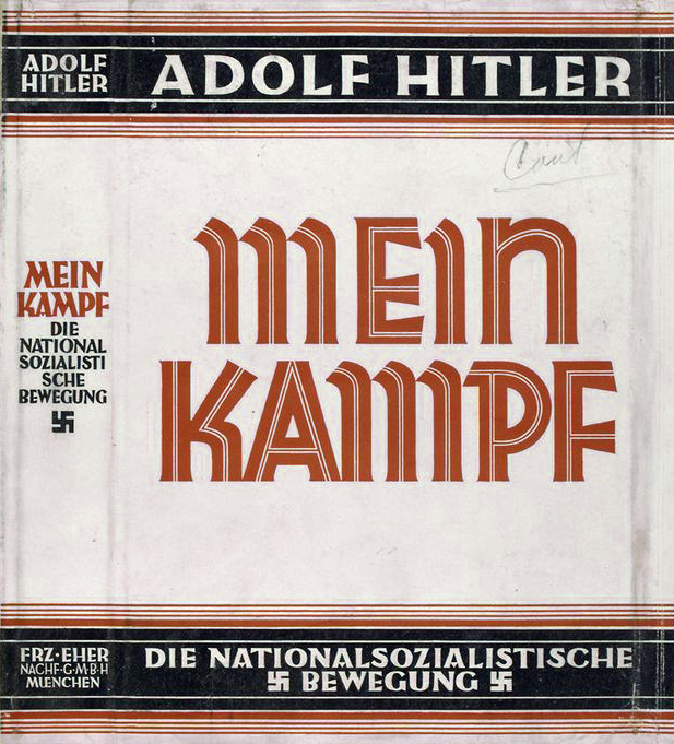 "A cover of ""Mein Kampf."" Credit: Wikimedia Commons."
