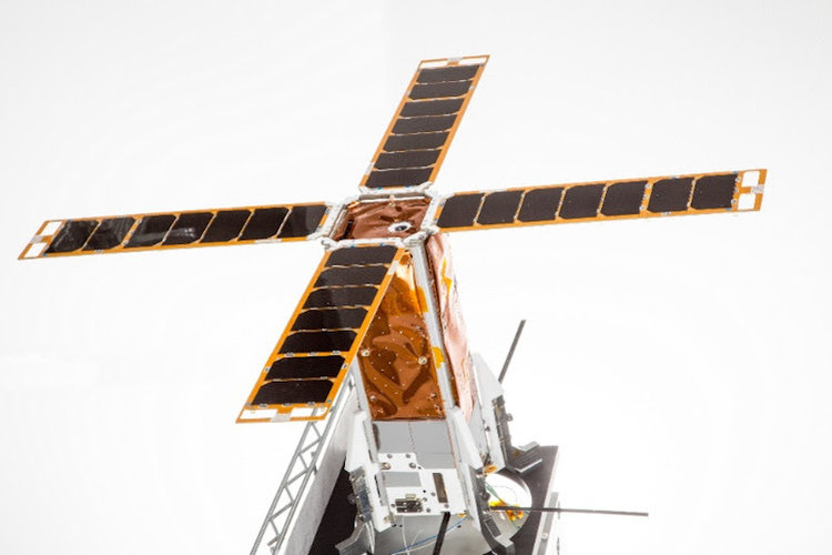 Israel's first nanosatellite, BGUSAT, which was launched last year as part of an academic initiative by Ben-Gurion University of the Negev. Credit: Ben-Gurion University.