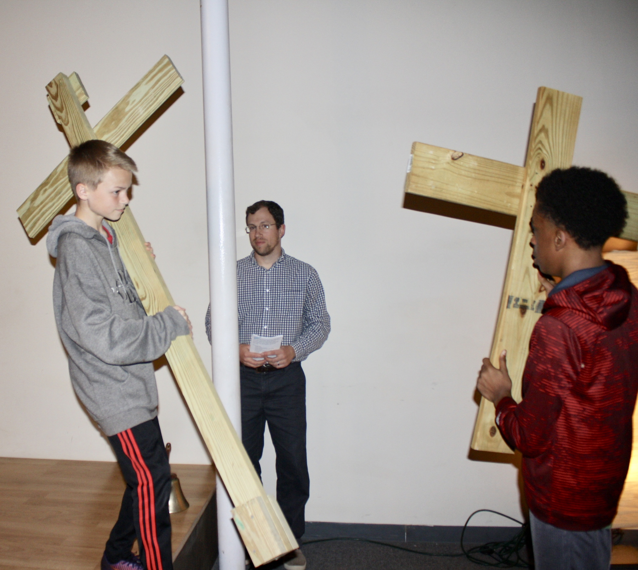 Youth Participation At One of the Ash Wednesday Stations