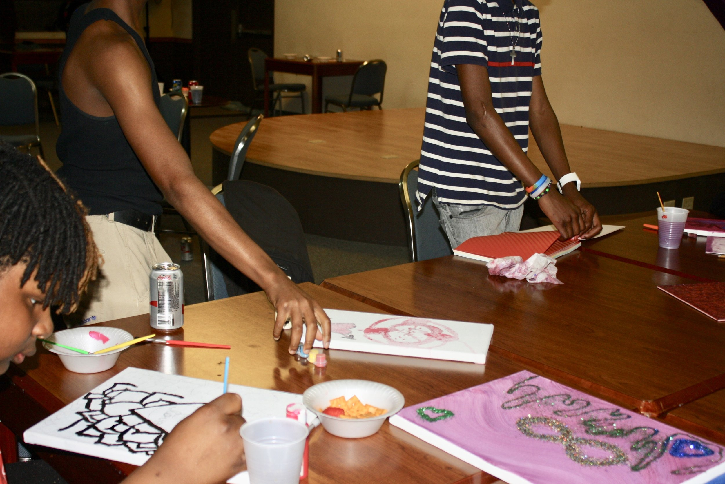 Preparing Art For Youth Art Exhibition