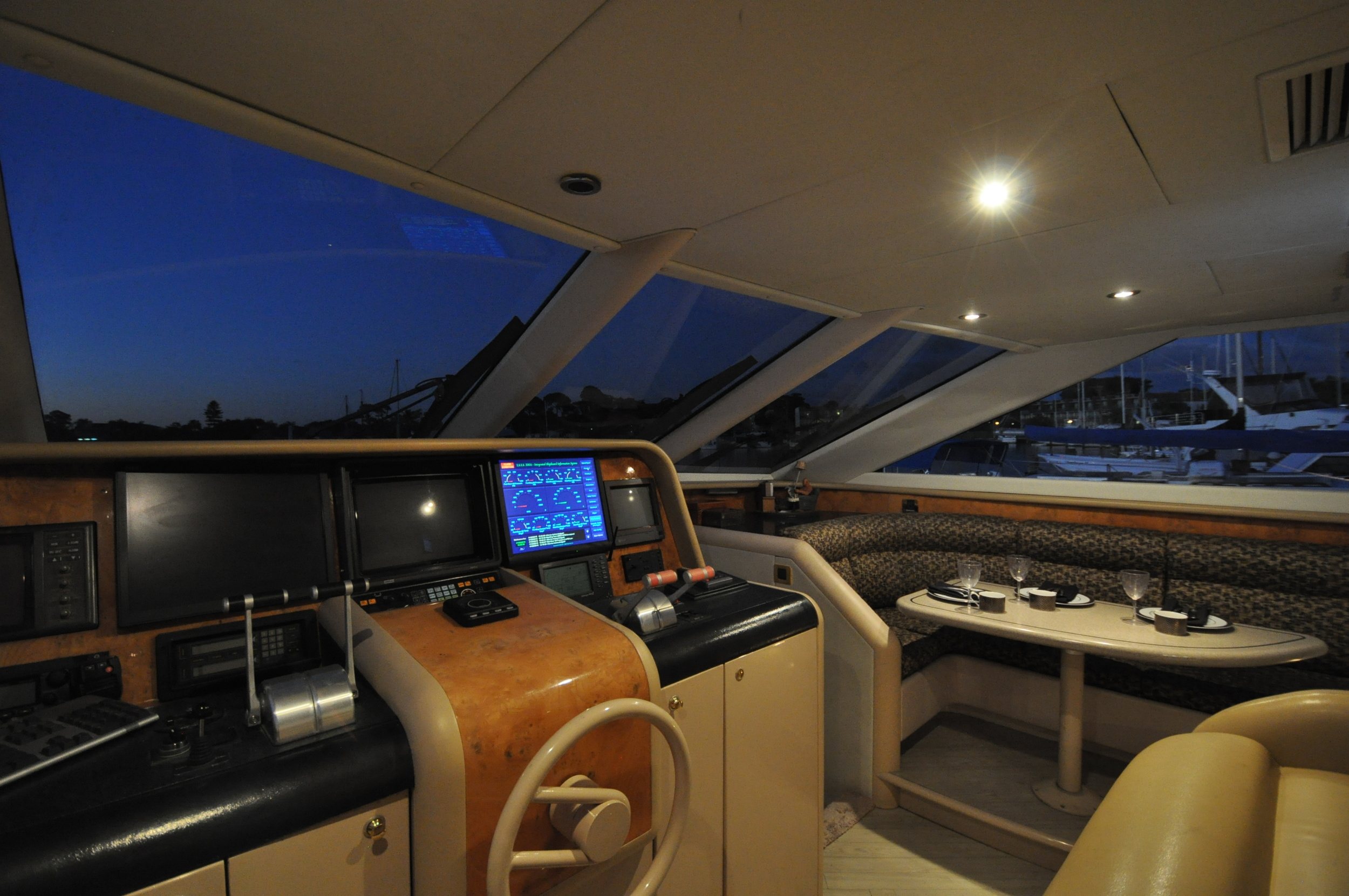 32 - lower helm facing starboard night.JPG