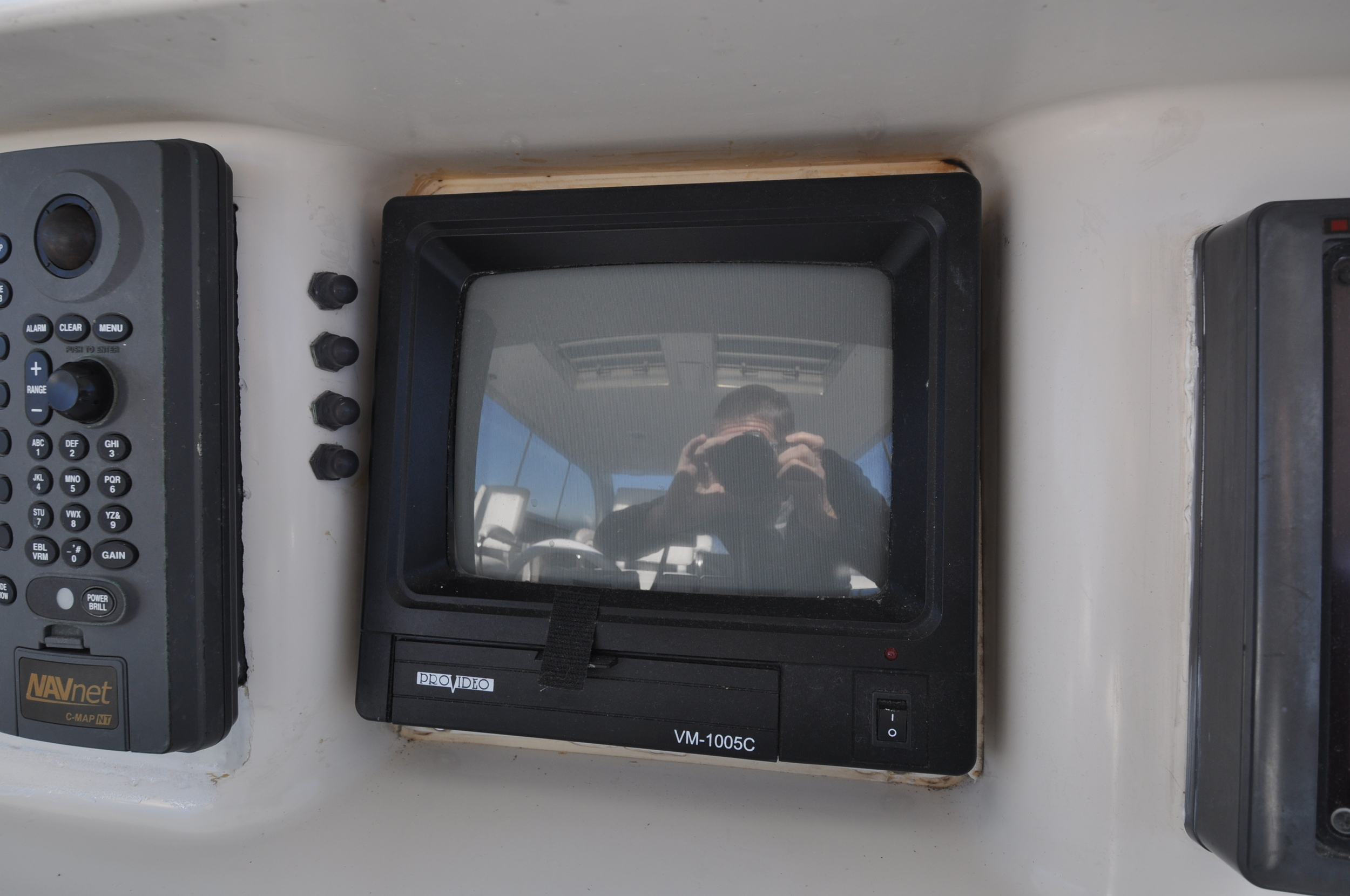 105 - Fly bridge helm provideo display.JPG