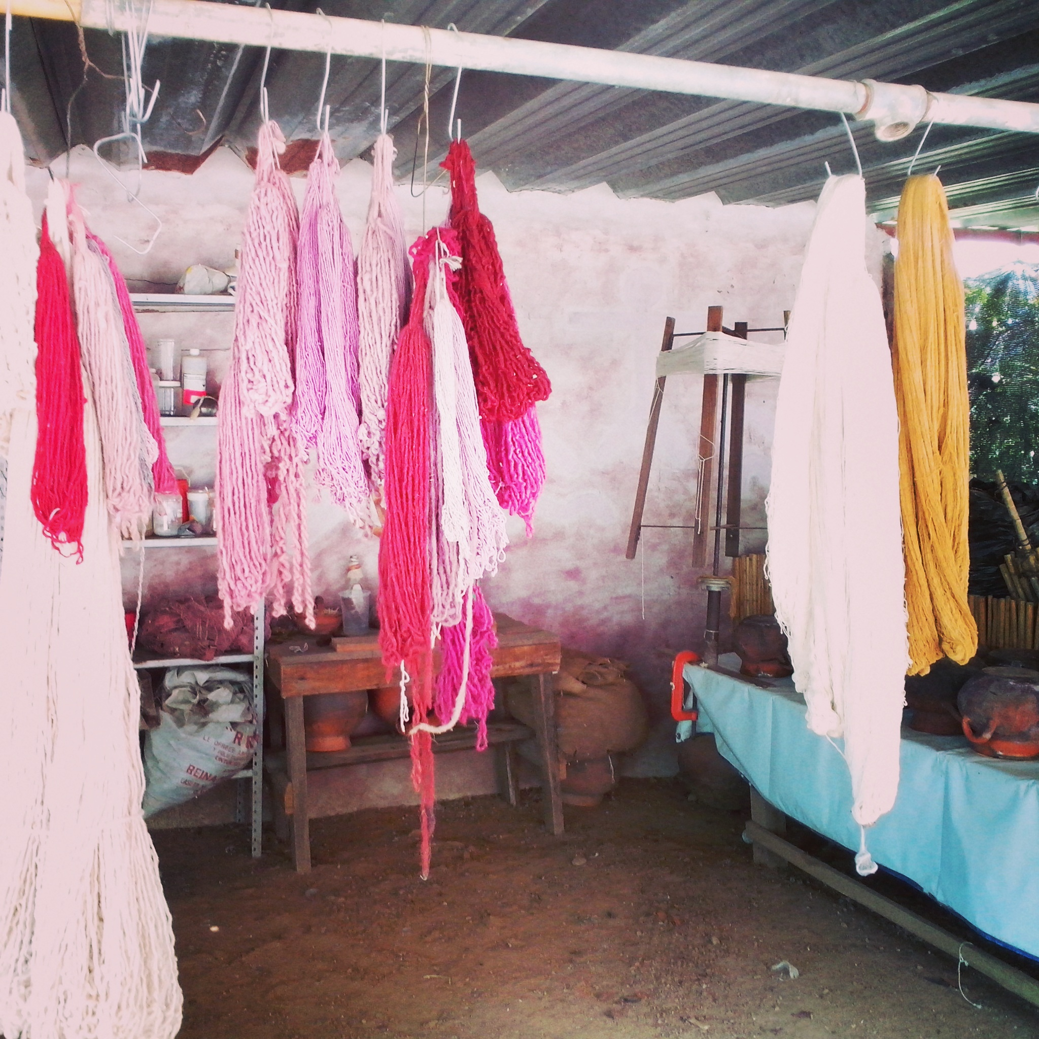 cochineal dyed yarn