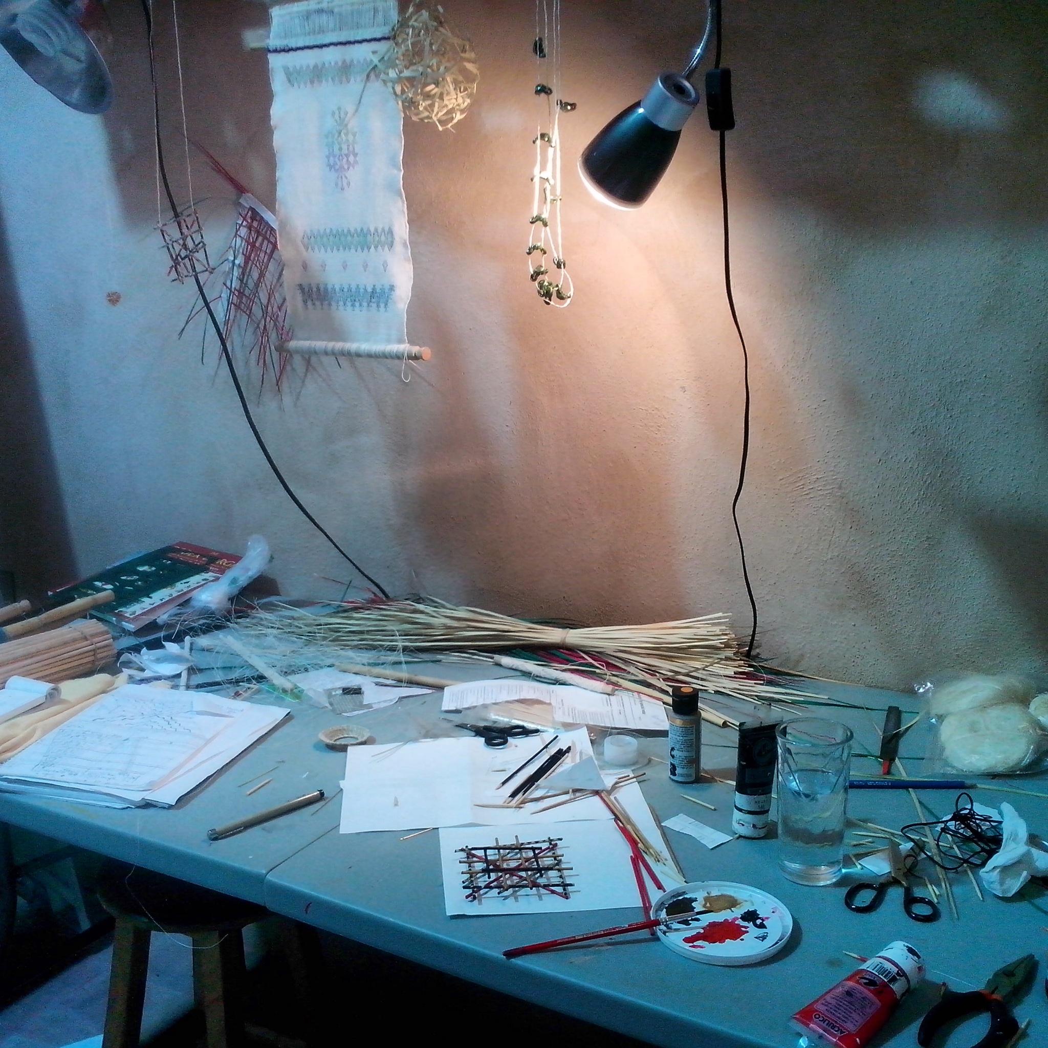my studio space, Arquetopia, Oaxaca