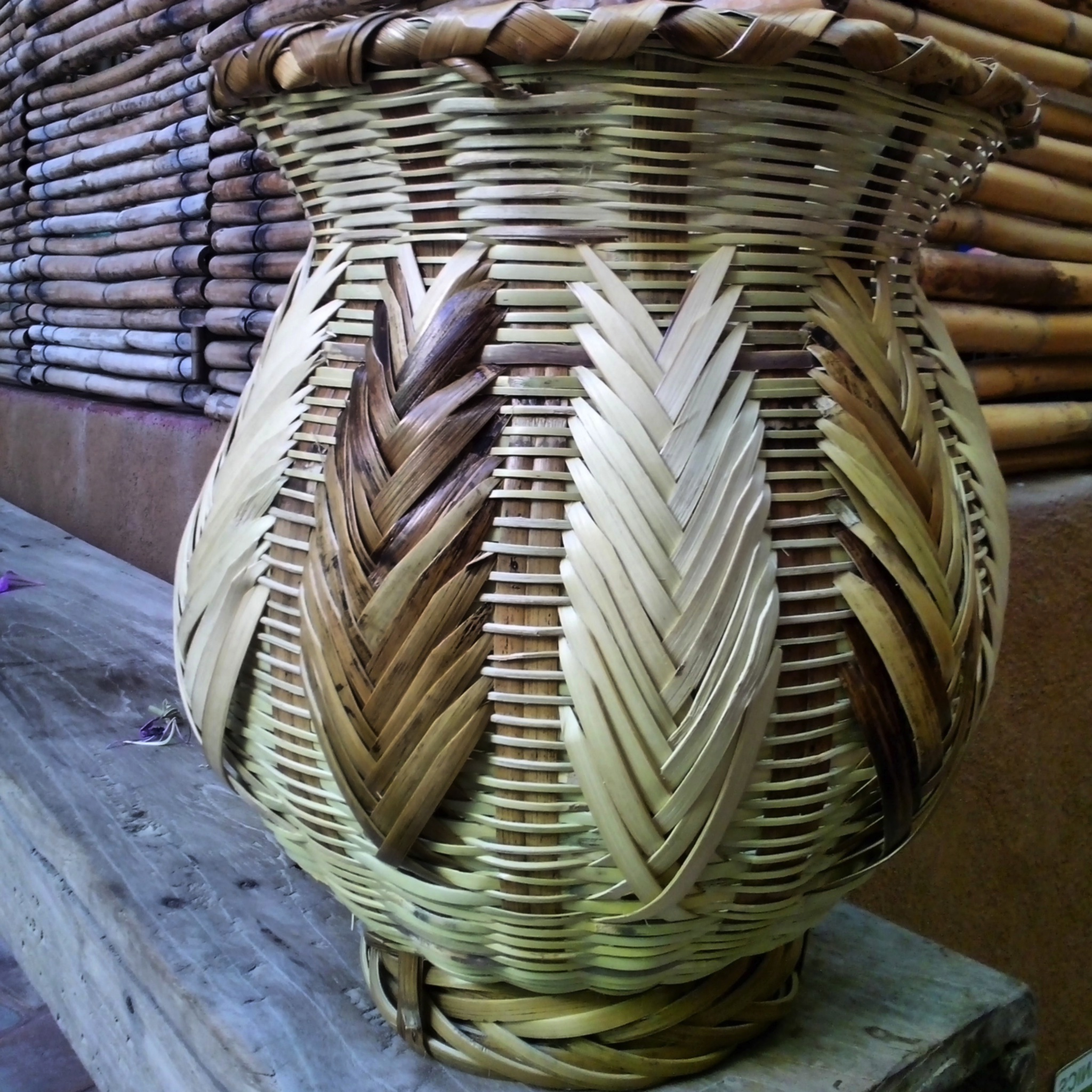 First basket complete with decorative motif