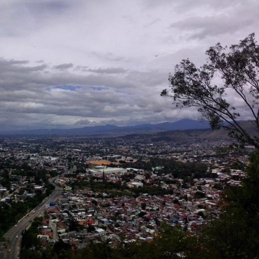 Looking down on Oaxaca Town