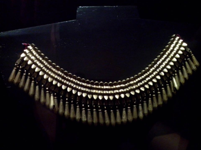 Pre-Hispanic gold necklace from Monte Alban tomb at Santo Domingo Cultural Centre