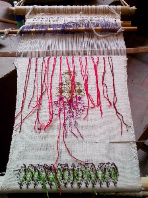Learning the supplementary weft technique