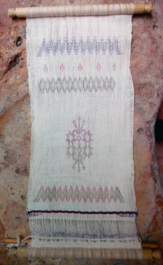 My first backstrap loom woven sample