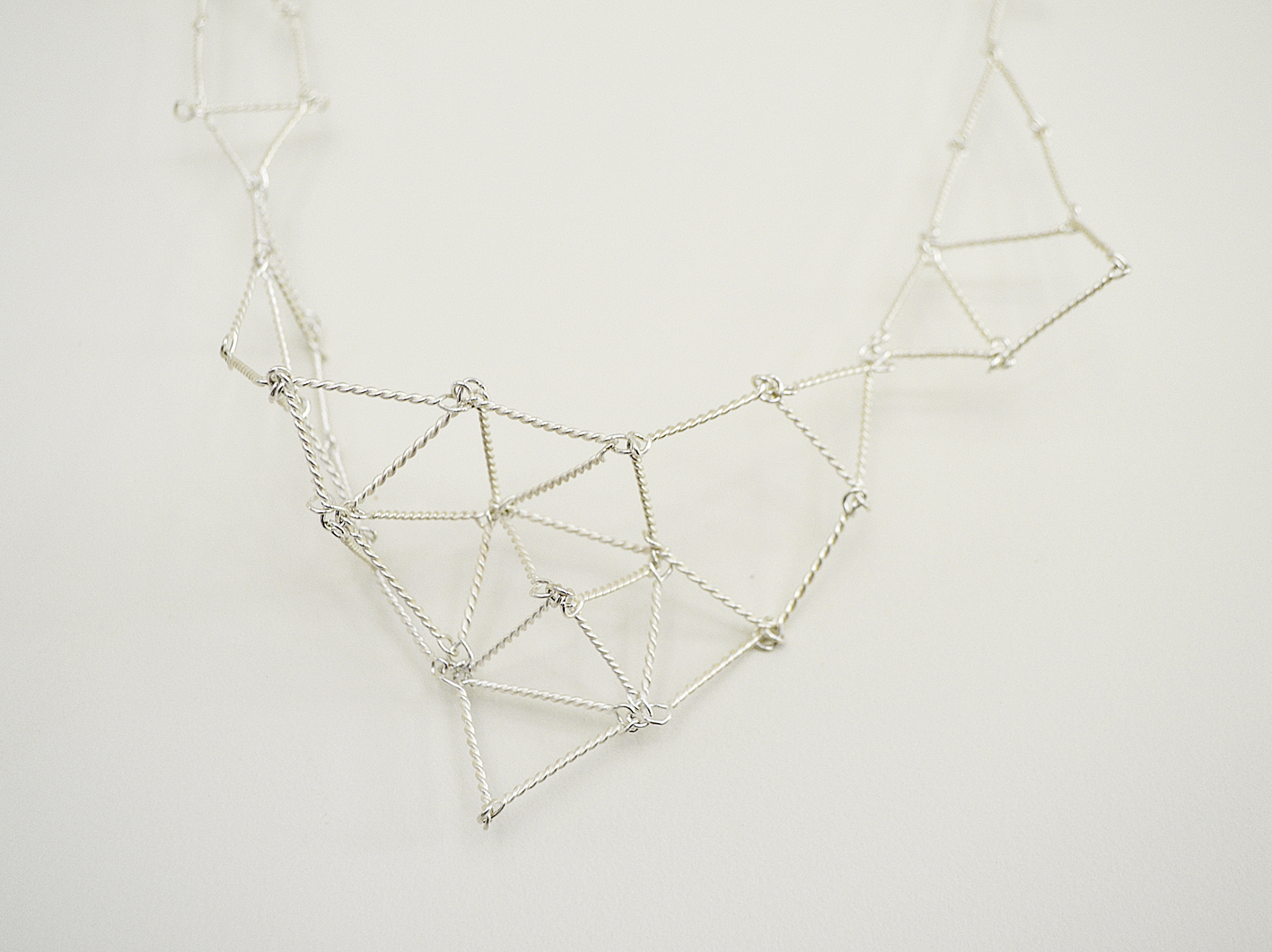 Cosmic Net necklace detail