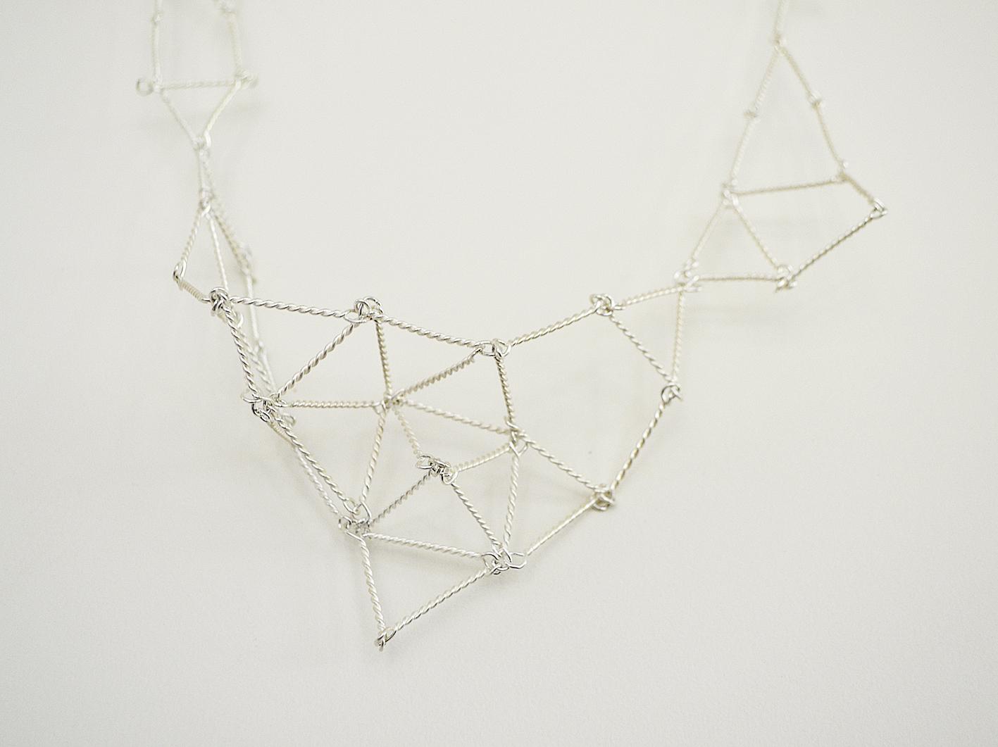 Cosmic Net necklace detail