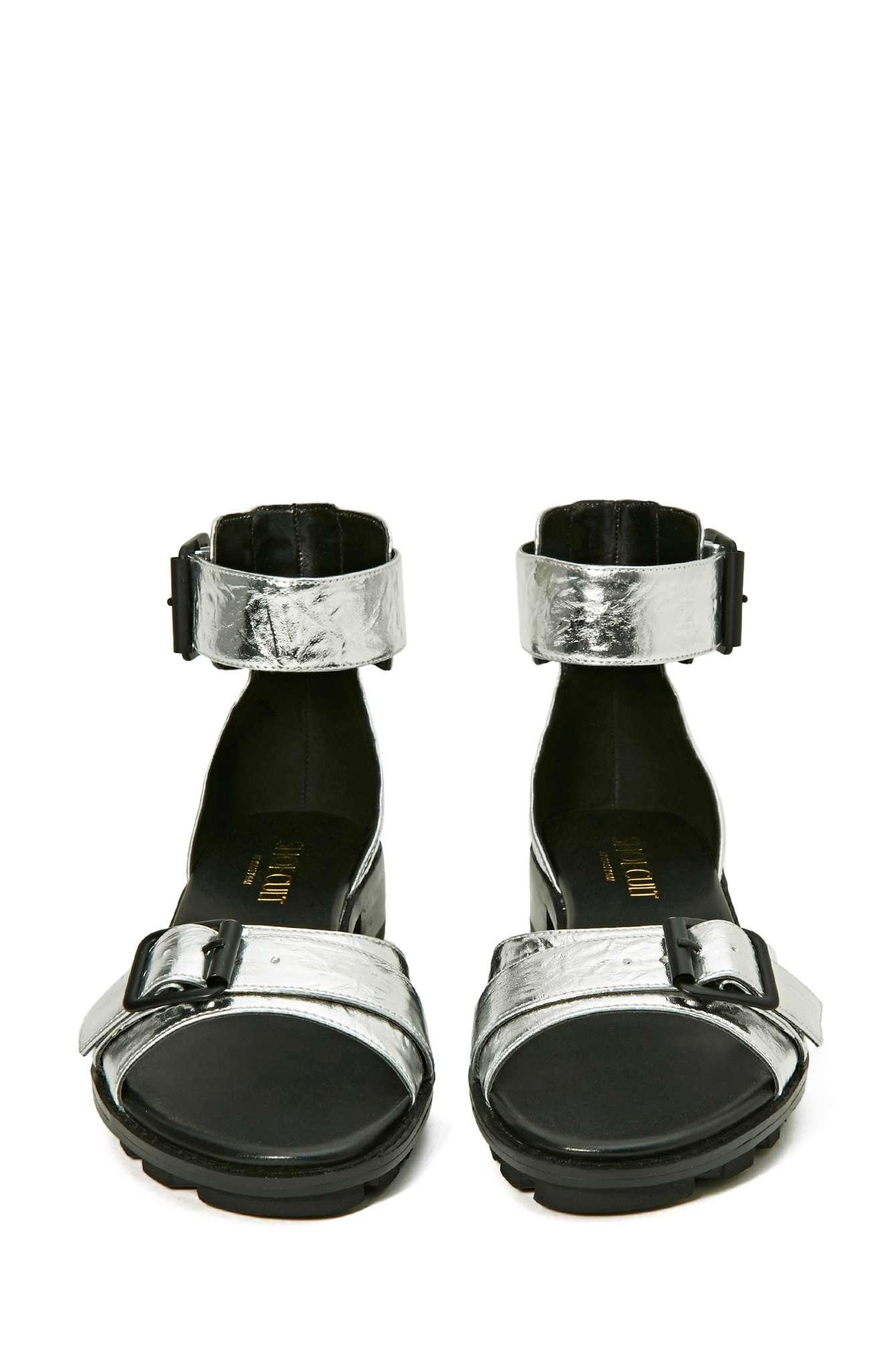 Shoe Cult Effect Sandal - Nasty Gal