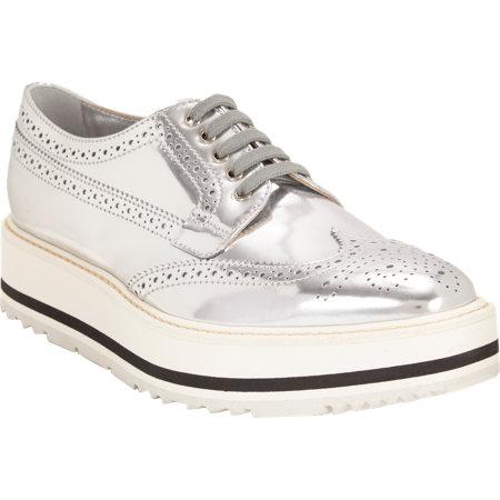 Prada Wingtip Brougue Platform Sneakers