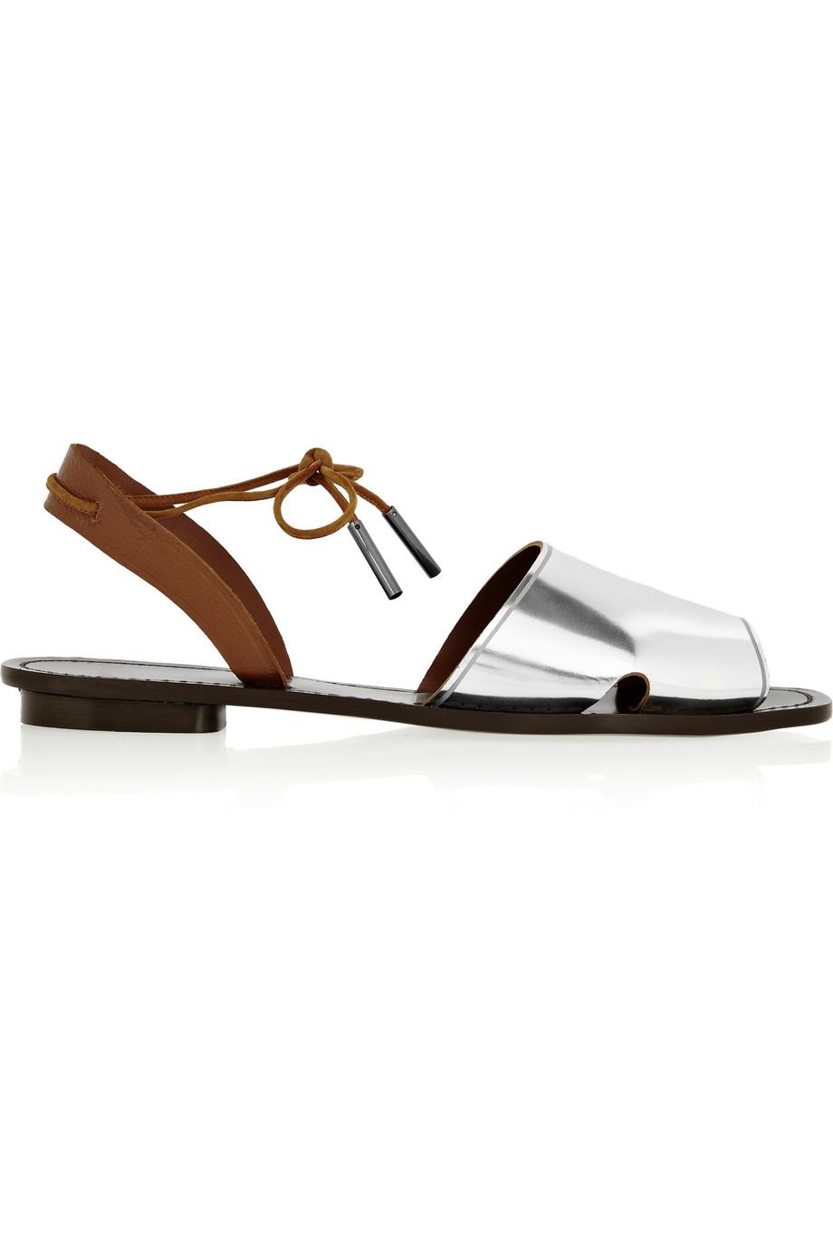 Maiyet Desert metallic leather sandals
