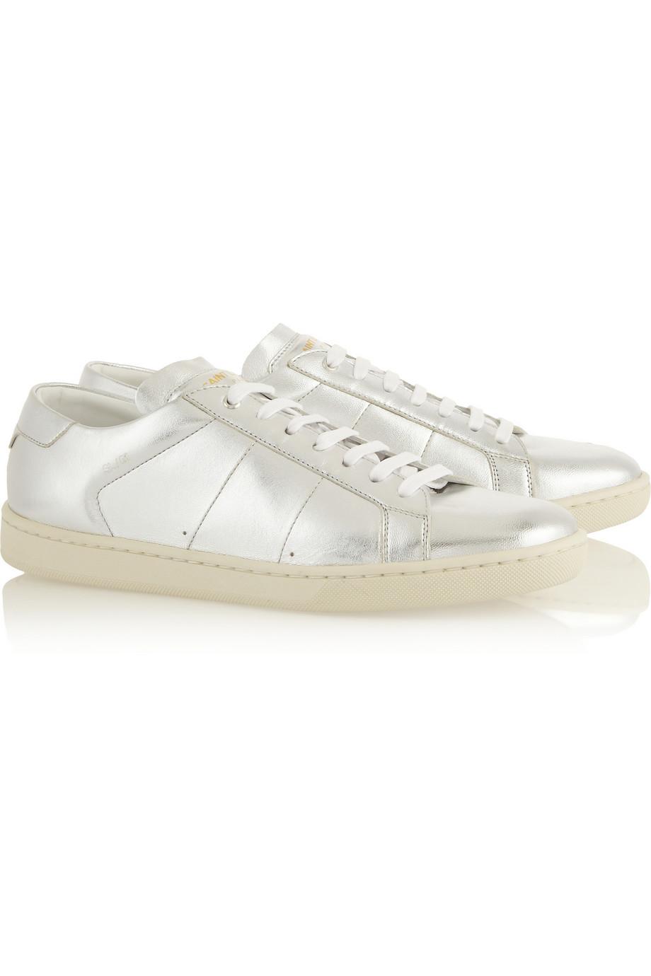 SAINT LAURENTMetallic leather sneakers