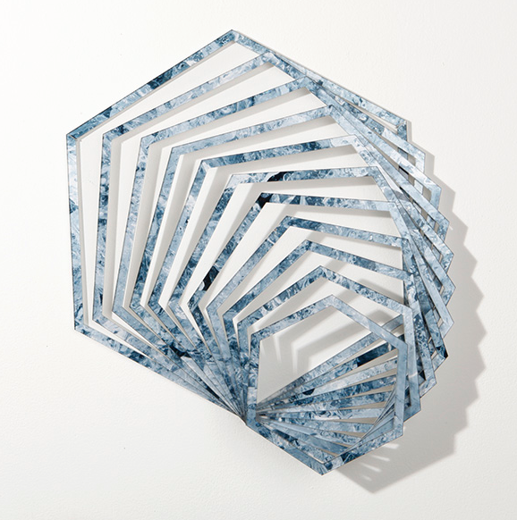 Ice Fractal, #1   2014   C-print on Duraflex & plexiglass   21 x 21 x 2.5""