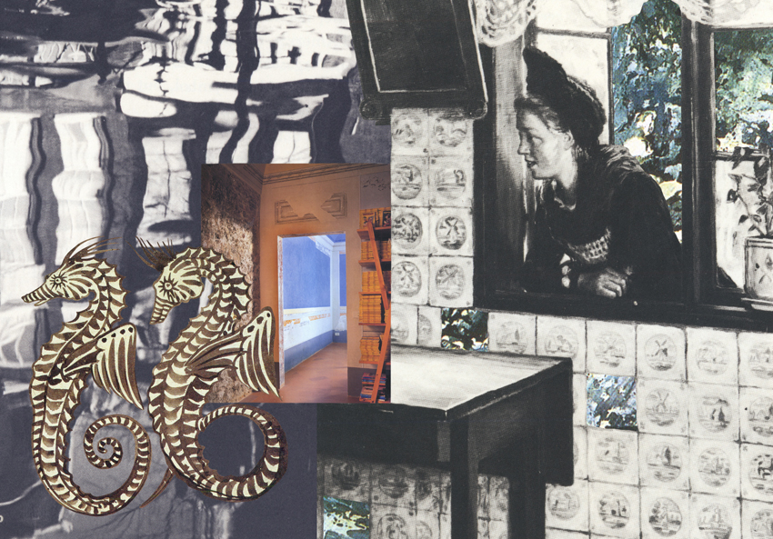 Gracia Haby & Louise Jennison,  At sea, on shore , 2012, collage for The Big Issue
