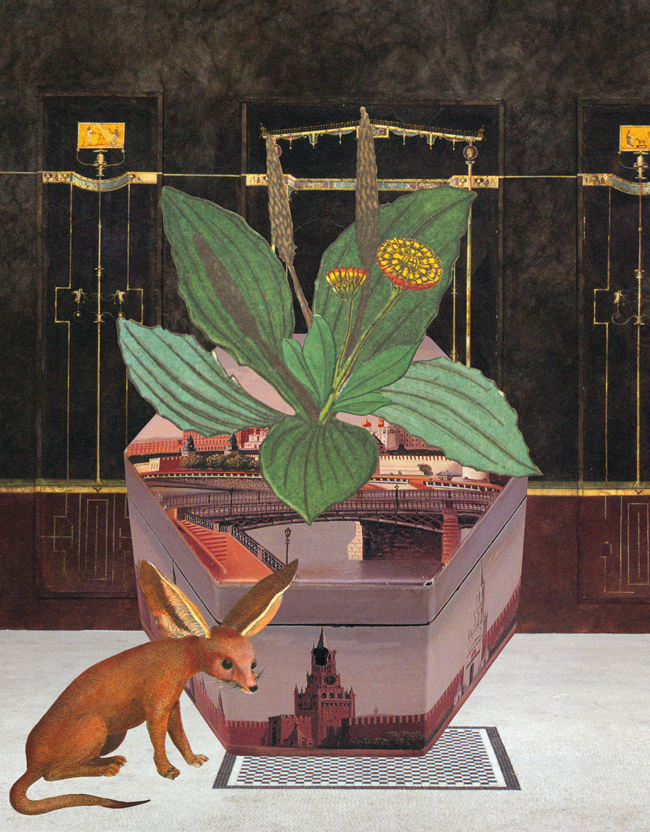 Gracia Haby & Louise Jennison,  A fantastical garden of the mind,  2010, collage