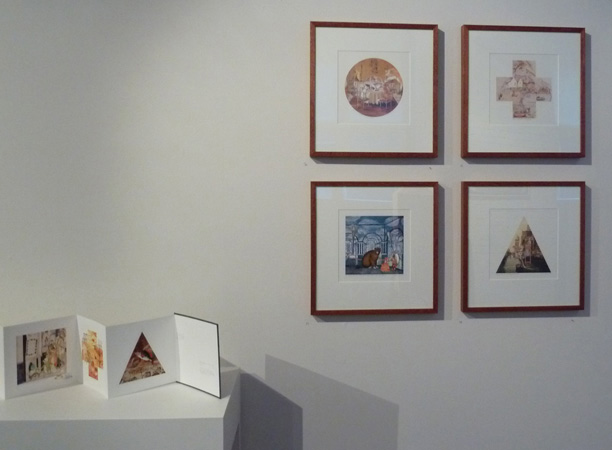 Gracia Haby & Louise Jennison, four lithographic offset prints exhibited as part of  Playing Field , Craft Victoria, 2010