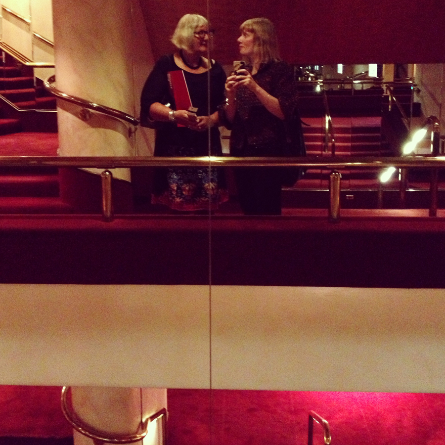 Reflected in the mirror, State Theatre foyer, The Australian Ballet's 420th performance of  Don Quixote