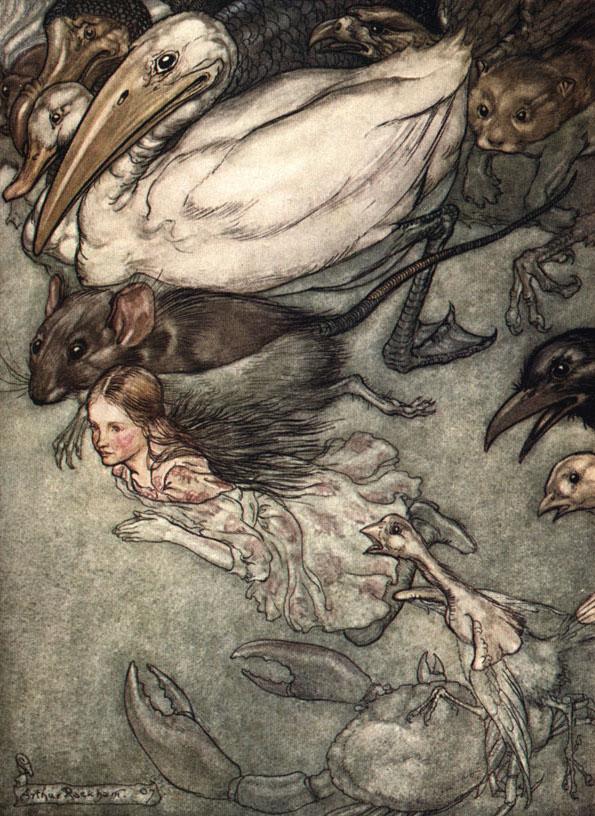 Arthur Rackham's illustration for Lewis Carroll's  Alice's Adventures in Wonderland