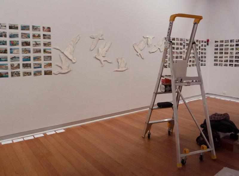 Installing   All breathing in heaven  , Geelong Gallery, 2013