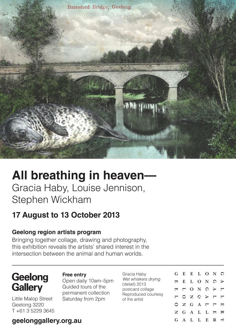 All breathing in heaven   at Geelong Gallery 2013