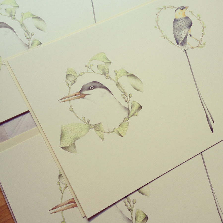 Louise Jennison,  A Flight of Twelve Southern Hemisphere Birds , 2013, artists' book in progress