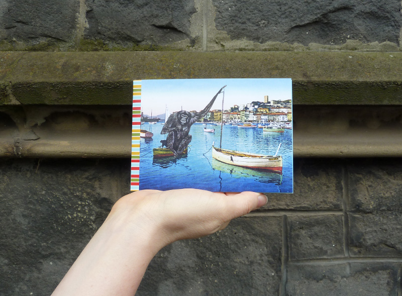 Gracia Haby,  A Postcard as Measuring Device , 2013, zine