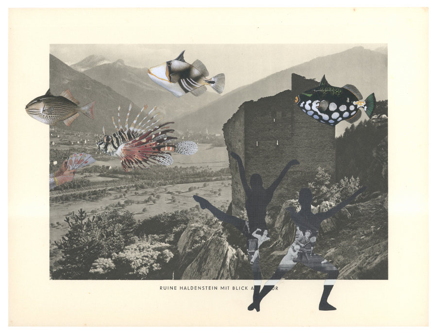 Gracia Haby,  ONEtwothree ONEtwothree ONEtwothree , 2014, collage