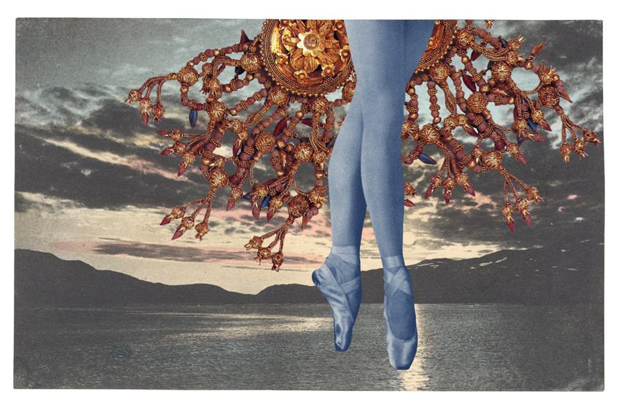 Collages created especially for  Behind Ballet's  Styling Ballet Imperial