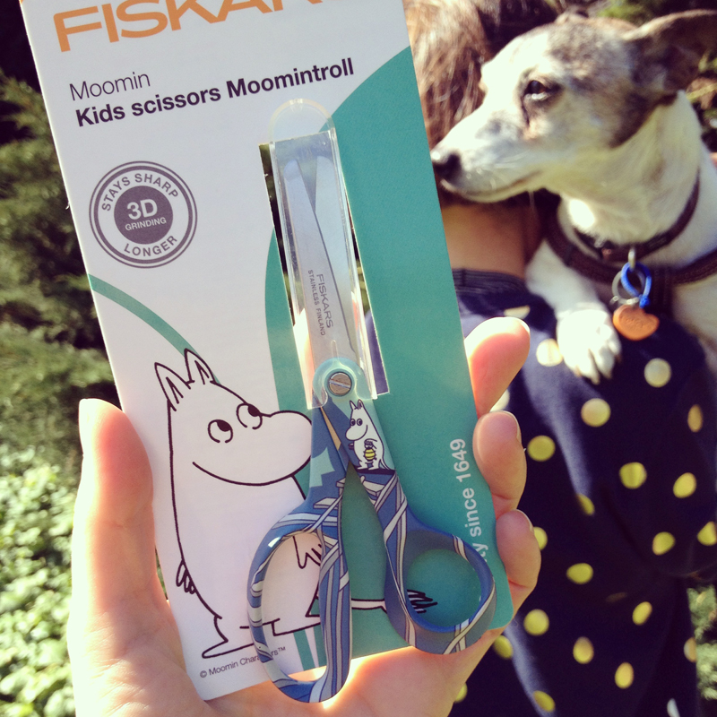 One cannot simply walk past the temptation of a new pair of Moomin scissors for collage without making a purchase
