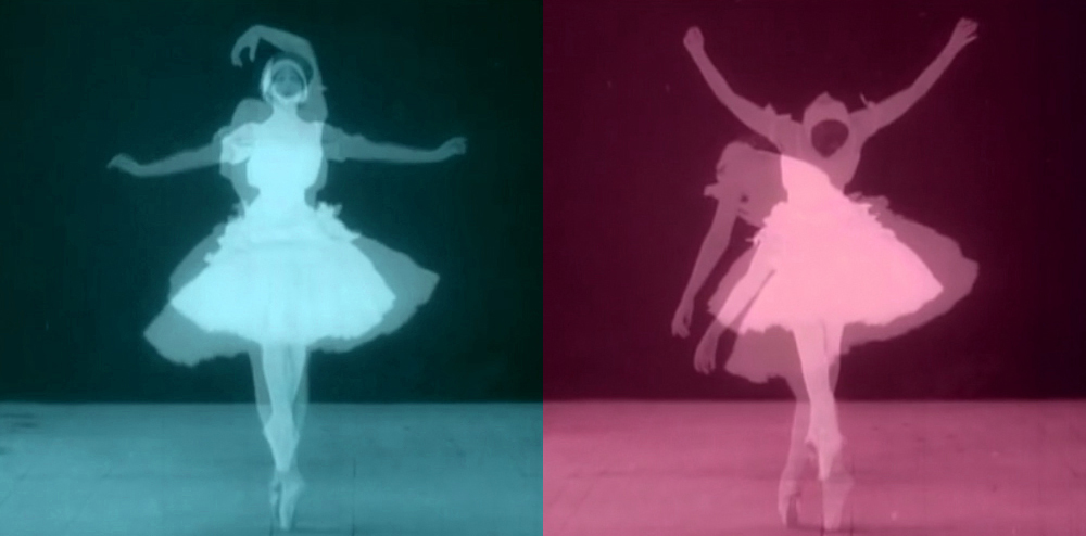 Two stills from ninety-nine,  from a short fifteen-second film  in celebration of World Ballet Day, 1st of Ocotber, 2014