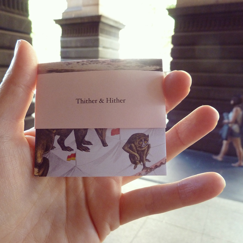 Thither & Hither  in hand at yesterday's Festival of the Photocopier presented by Sticky Institute, Melbourne Town Hall