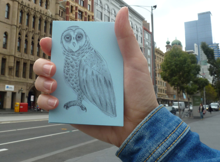 With a copy of   Whoot-woo   in hand