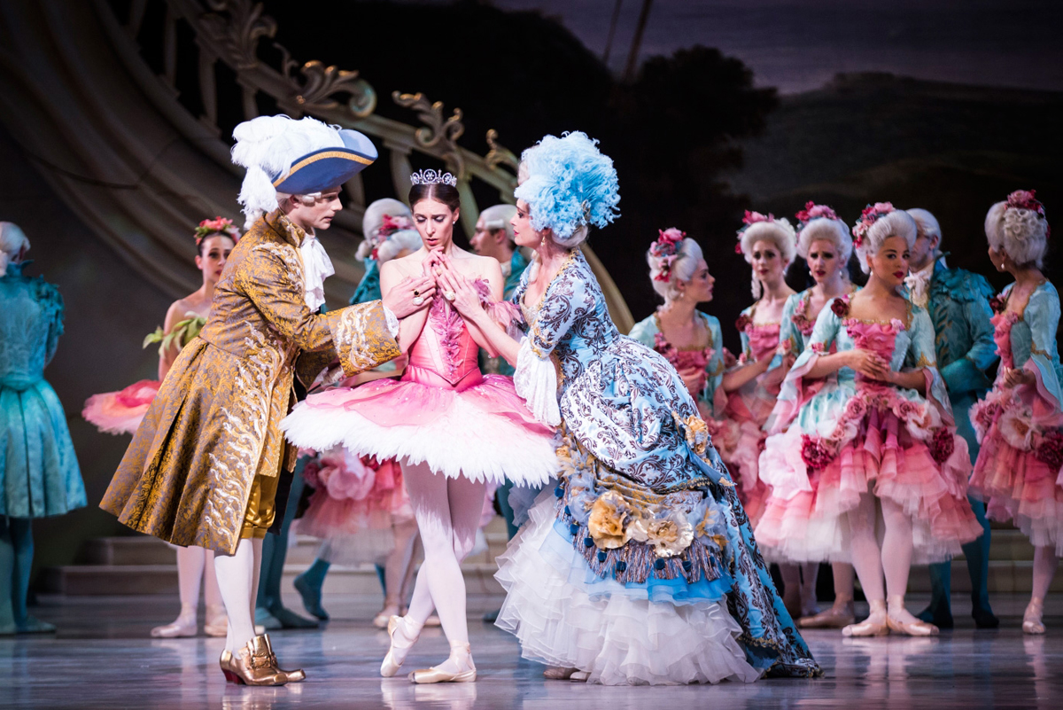 Matt Donnelly, Lana Jones, and Lisa Bolte in The Australian Ballet's  The Sleeping Beauty  (Image credit: Kate Longley)