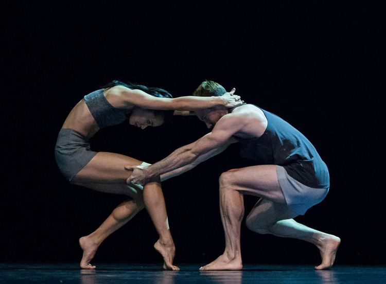 Sydney Dance Company's Charmene Yap and Todd Sutherland performing in Rafael Bonachela's  Lux Tenebris  (Image credit: Peter Greig)