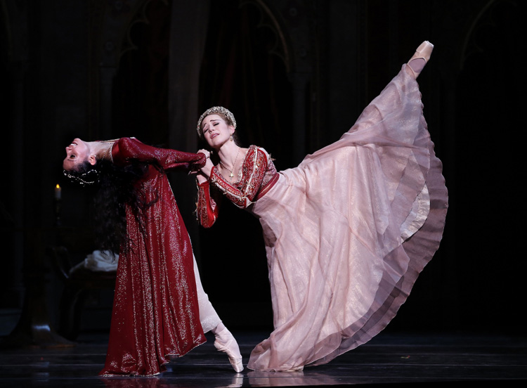 Karina González and Jessica Collado as Juliet and Lady Capulet in Houston Ballet's Romeo and Juliet (Image credit: Jeff Busby)