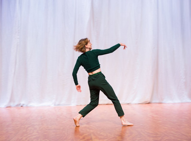 Caroline Meaden in 'Sneaky Bastardl,' one of three solos within  Blowin' Up  (Image credit: Mischa Baka)