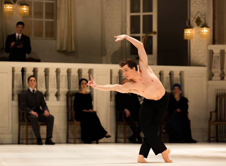 The Australian Ballet's Kevin Jackson performing in John Neumeier's  Nijinsky  (image credit: Kate Longley)