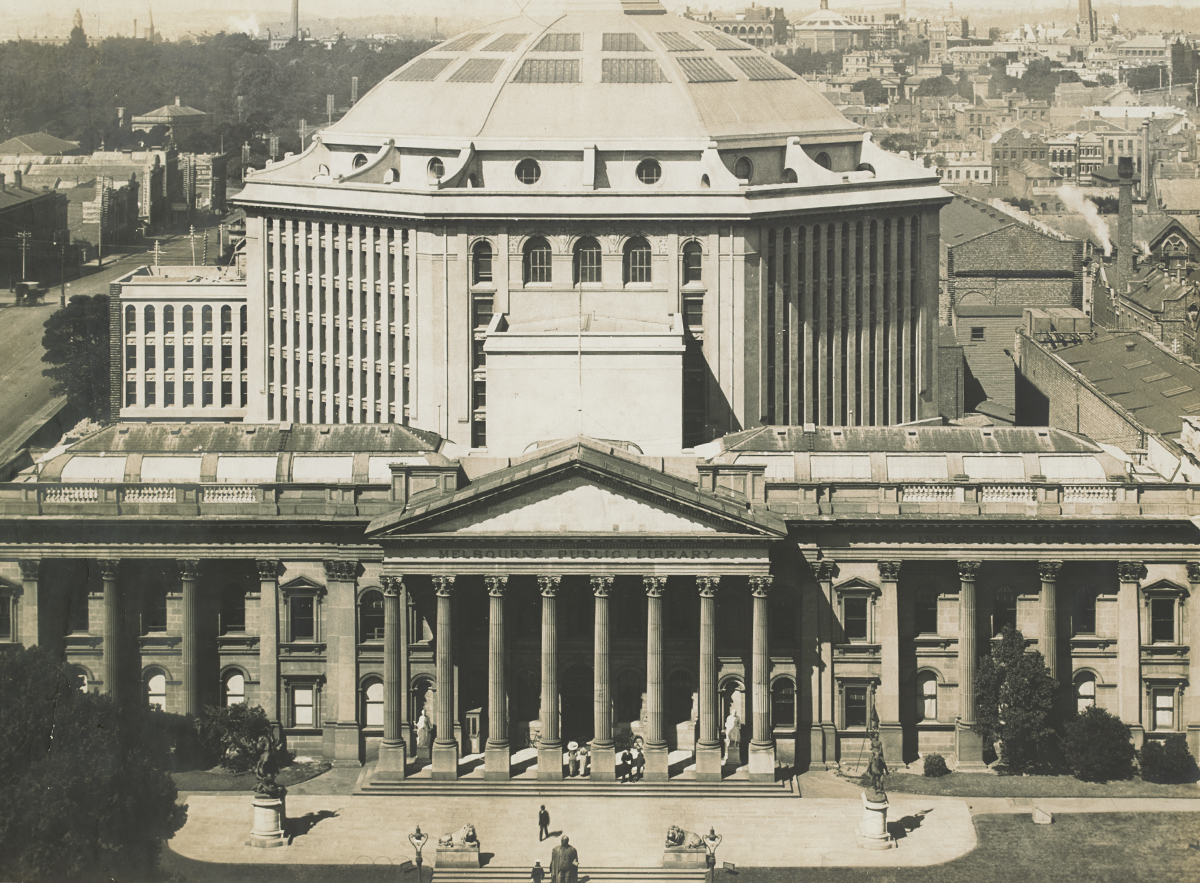 Elevated view of the Melbourne Public Library [about 1913]