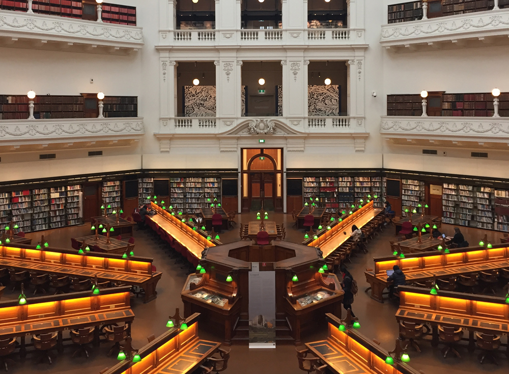 Looped , presented in partnership with State Library Victoria, in the La Trobe reading room until Friday 31st of August, 2018