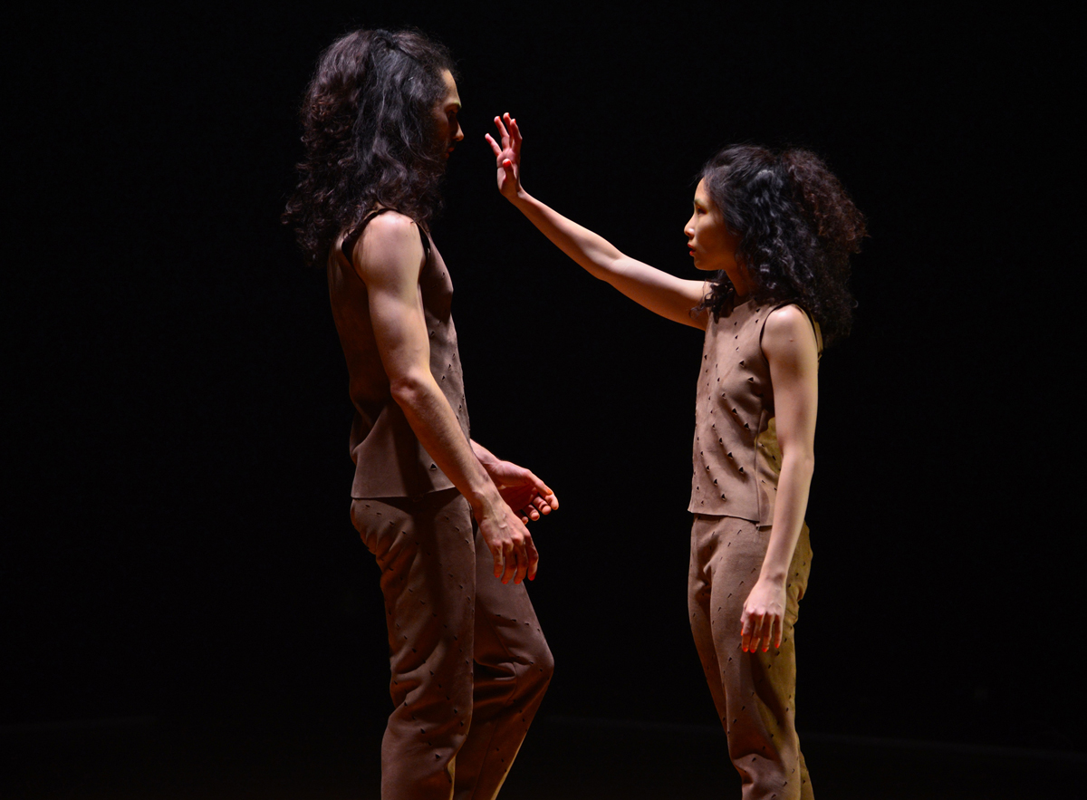 Christina Chan and Aymeric Bichon in Stephanie Lake's  Replica  (image credit: Damian Stephens)