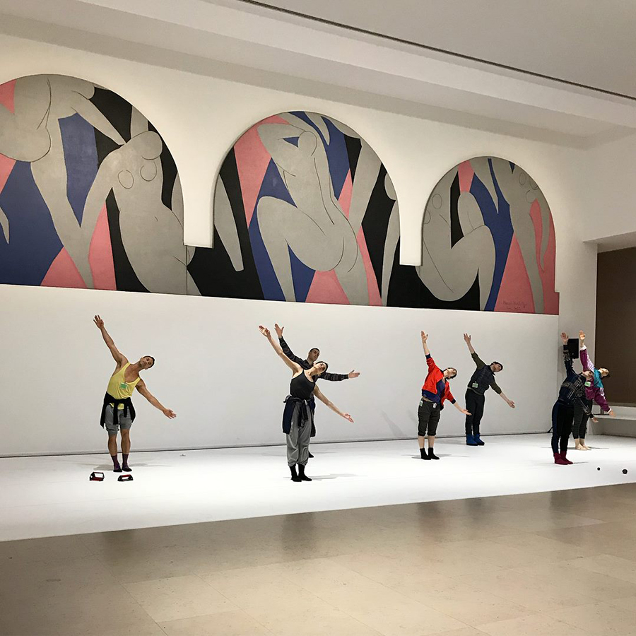 The joy of Henri Matisse's  La Danse  at the Musée d'Art Moderne  is doubled when you catch Centre national de danse contemporaine d'Angers (Robert Swinston) rehearsing Merce Cunningham's  Event #7